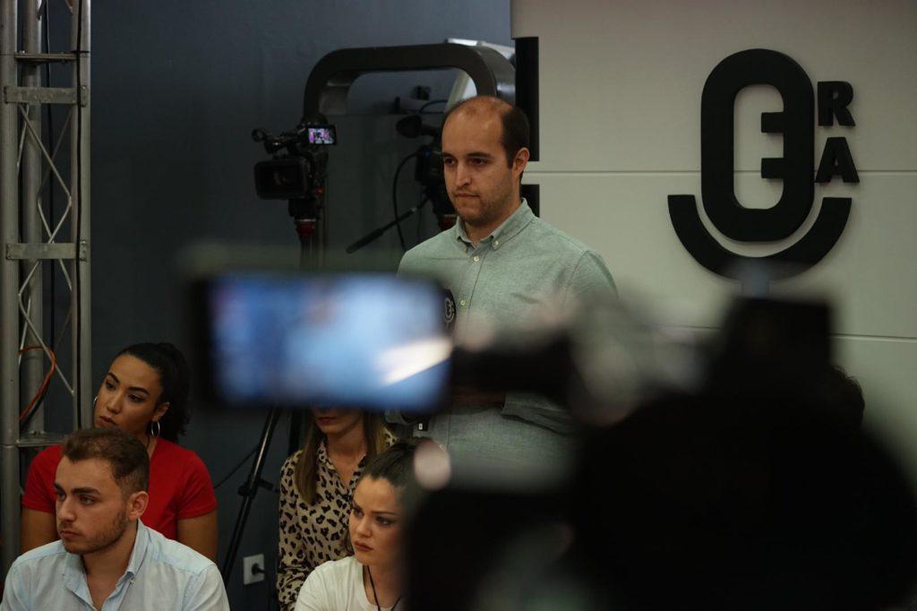 El periodista Miguel Ángel Moreno durante una entrevista en la ERA