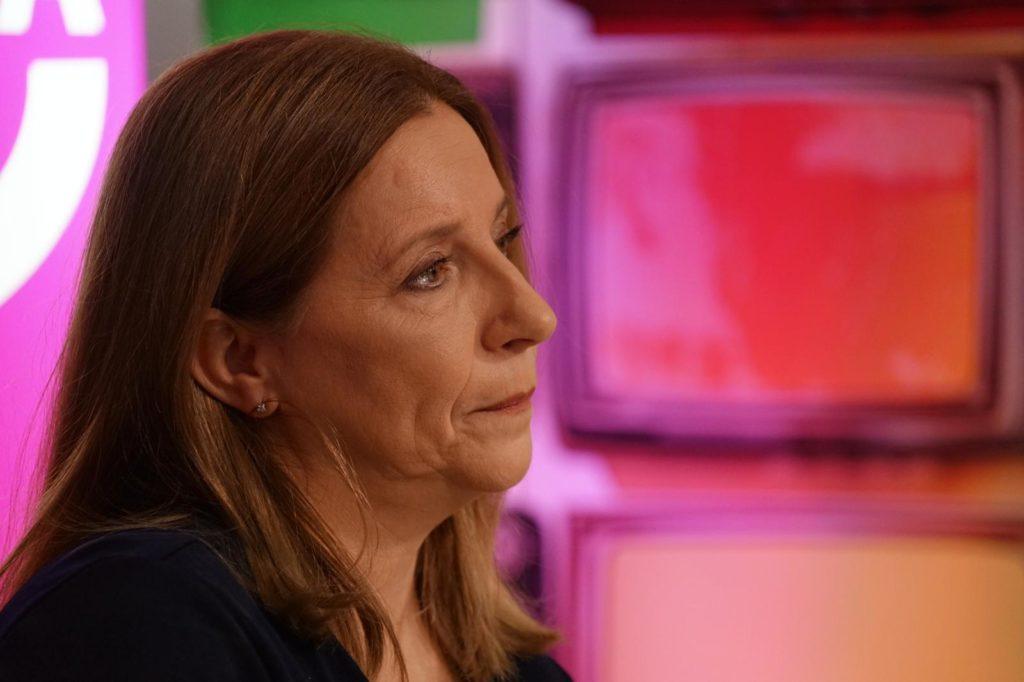 Eva Casanueva, madre de Marta del Castillo, durante la entrevista en la Escuela de Reporteros de Andalucía