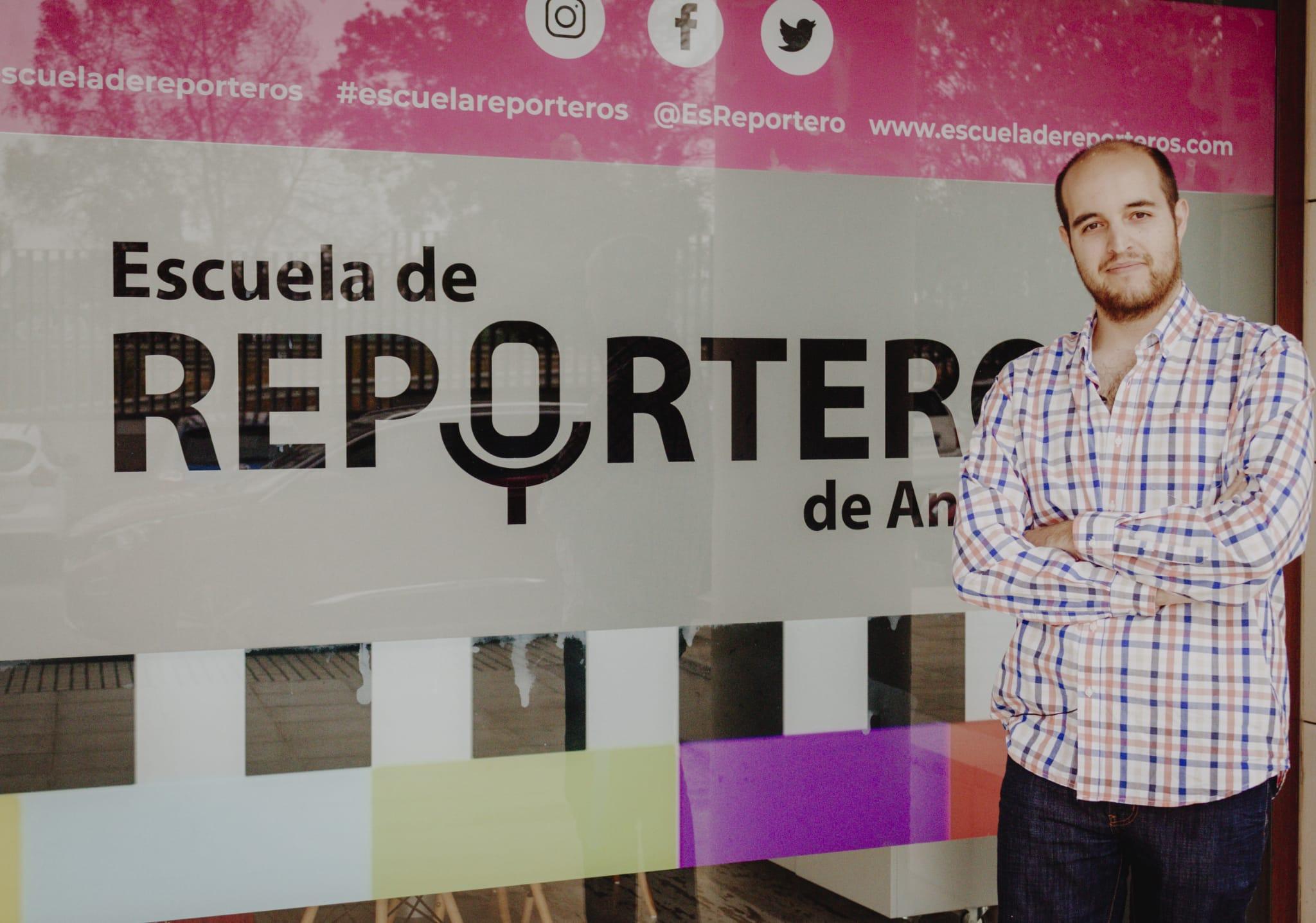 El periodista Miguel Ángel Moreno en la Escuela de Reporteros de Andalucía (ERA)